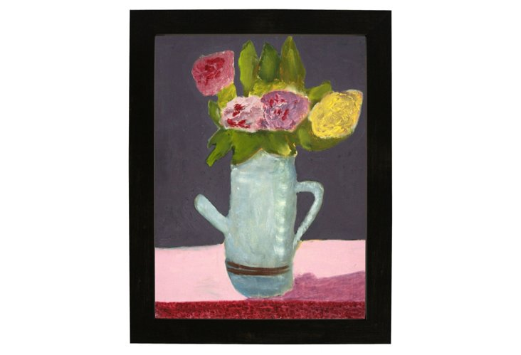 Unsigned, Flowers In Pitcher