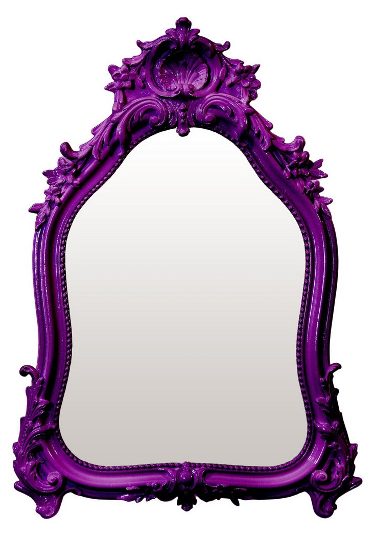 Shell Crown Mirror, Purple