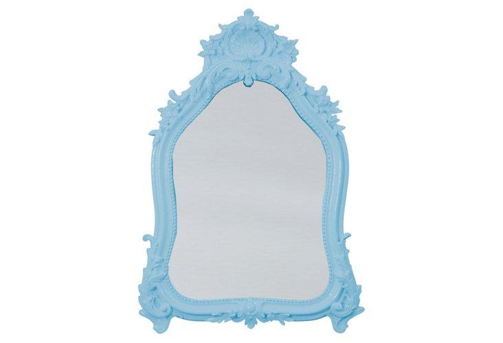 Shell Crown Mirror, Blue