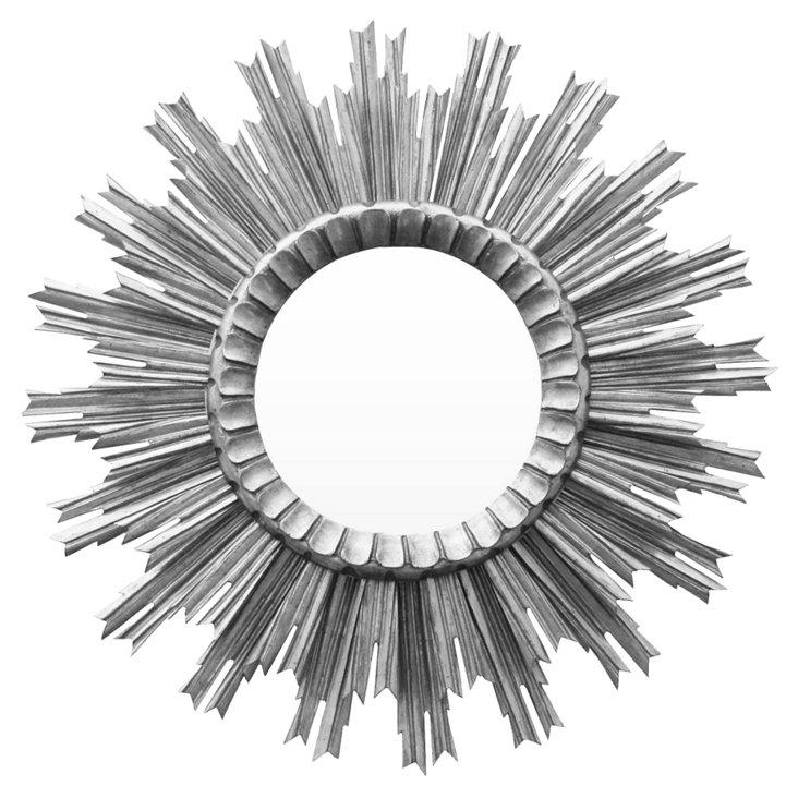 Kendra Sunburst Mirror, Silver