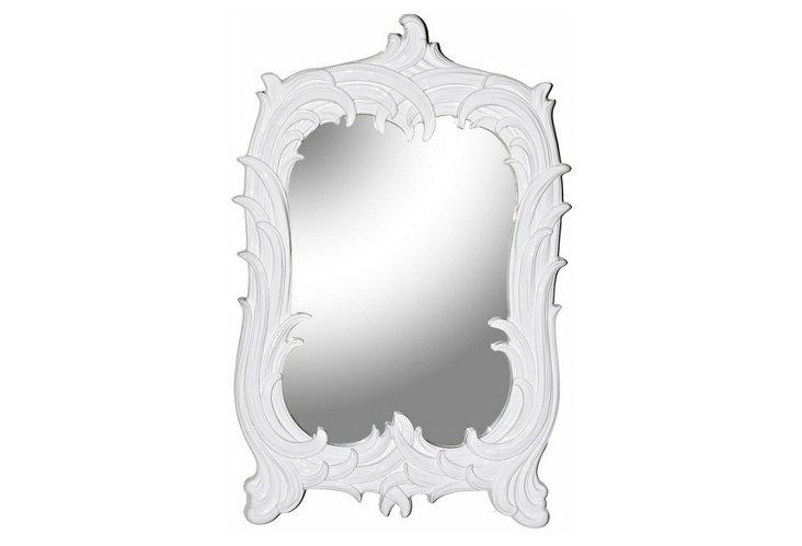 Art Nouveau Mirror, White