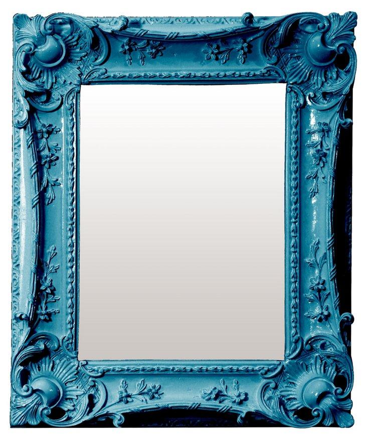 Louis Sweep Mirror, Blue