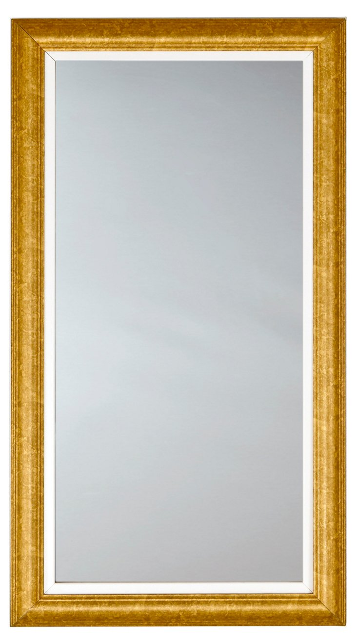 Classic Rectangle Mirror, Gold