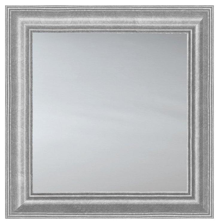 Classic Square Mirror, Silver