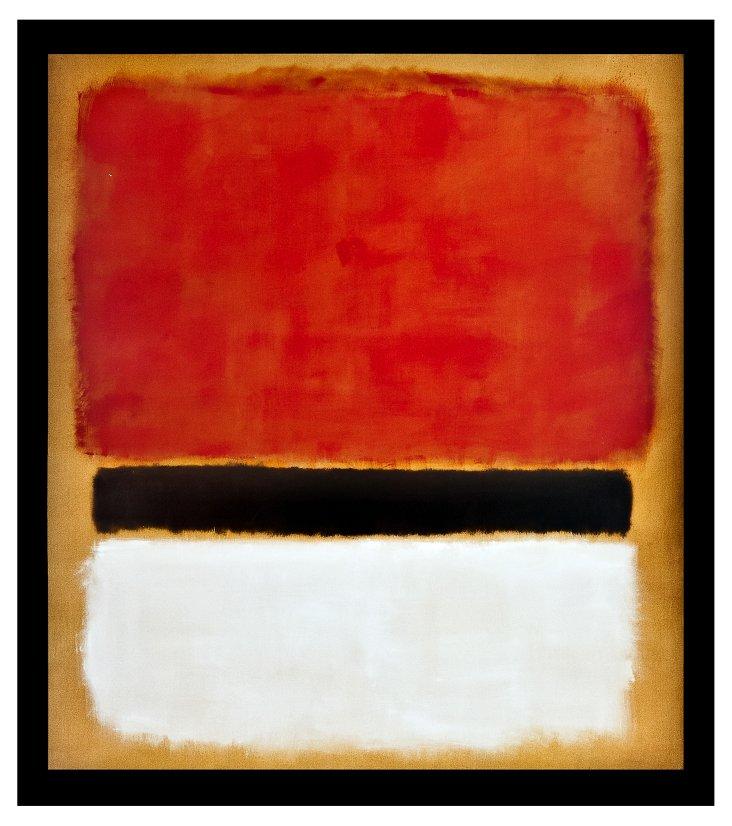 Rothko, red black white yellow DNU