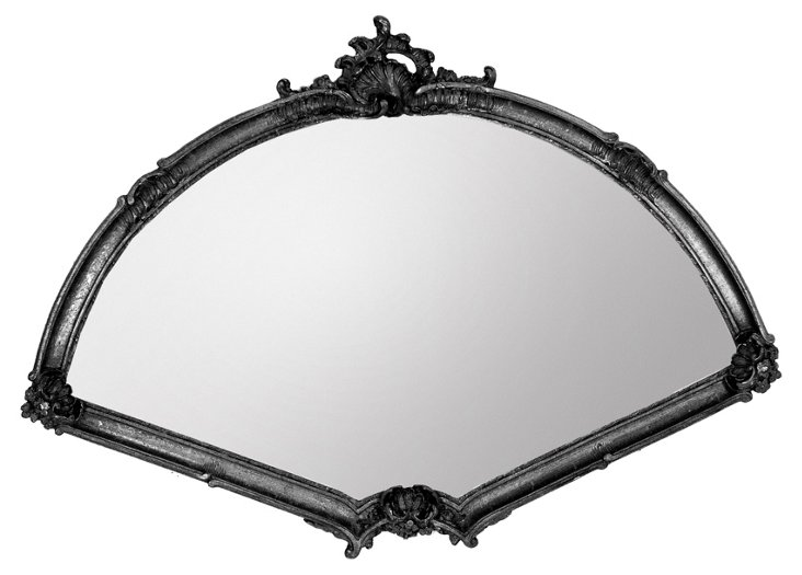 Large Fan Mirror, Black