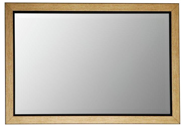 "Gold 14"" Inset Mirror"