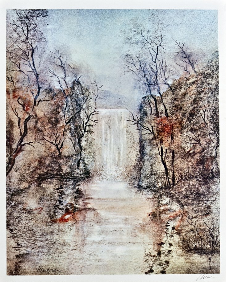 Rivera, Landscape with Waterfall