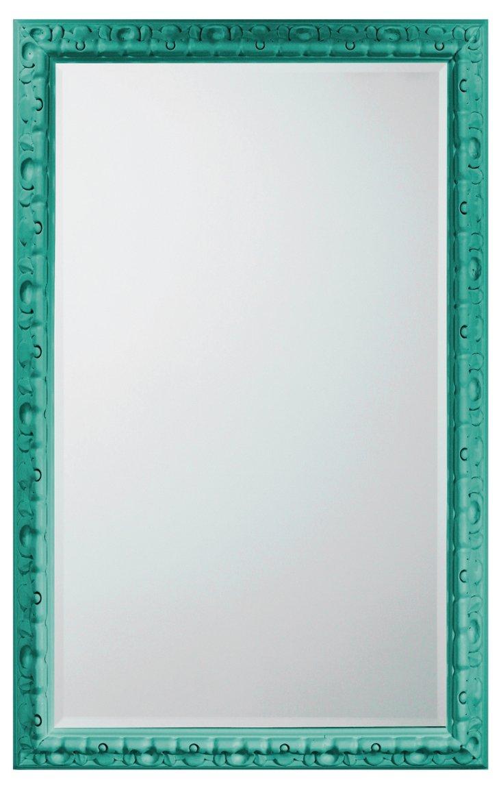 Spanish Carved Mirror, Jade