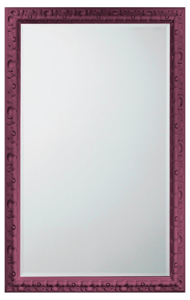 Spanish Carved Mirror, Plum