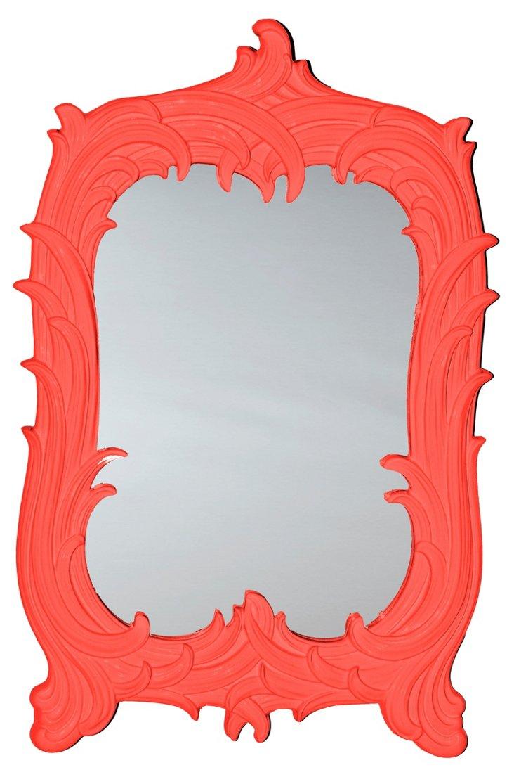 Art Nouveau Mirror, Red