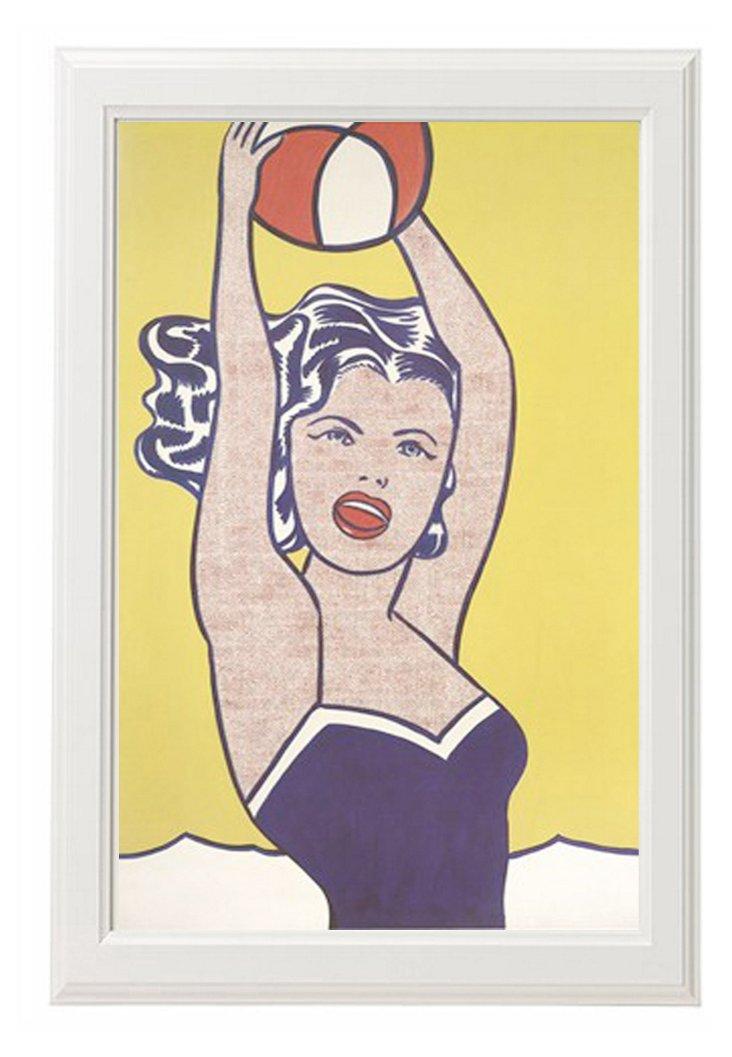 Roy Lichtenstein, Girl with Ball