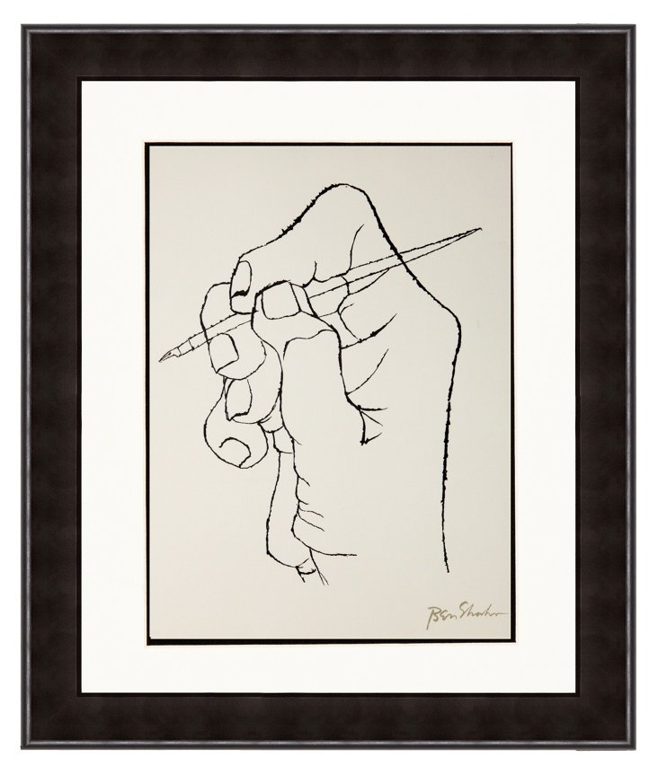 Ben Shahn, Pen in Hand