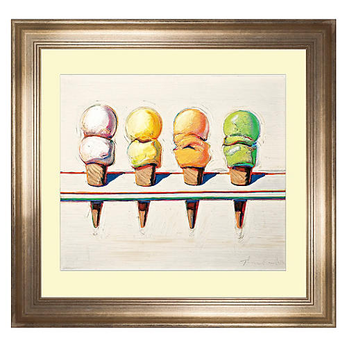 Wayne Thiebaud, Ice Cream, 1964