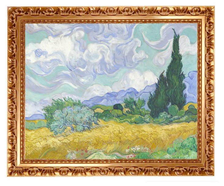 Van Gogh, Wheat Field with Cypresses