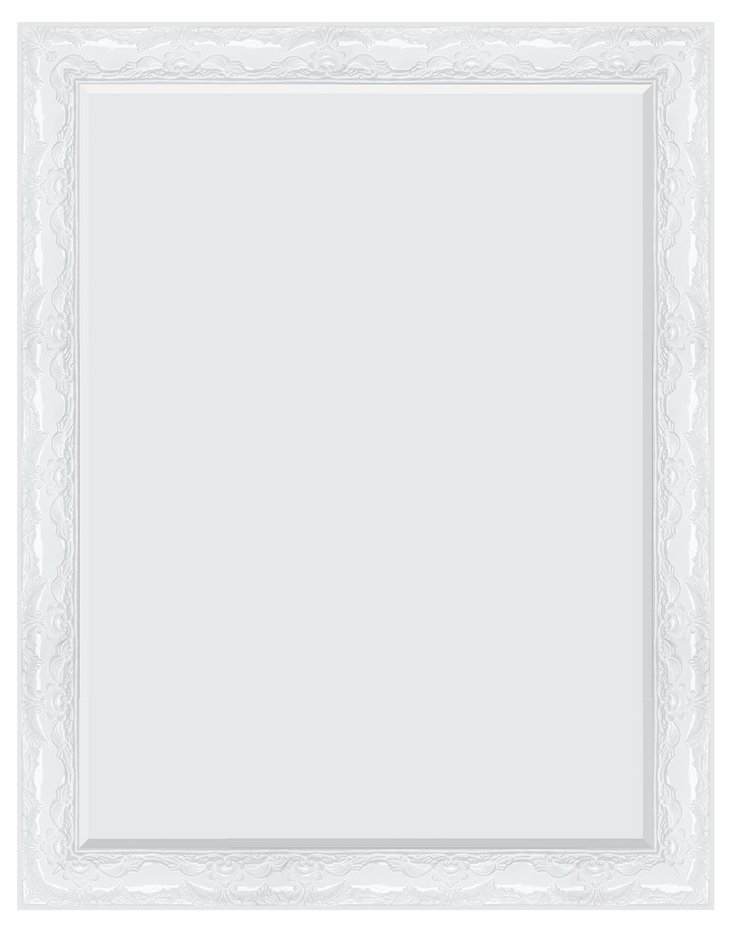 Everly Oversize Mirror, White