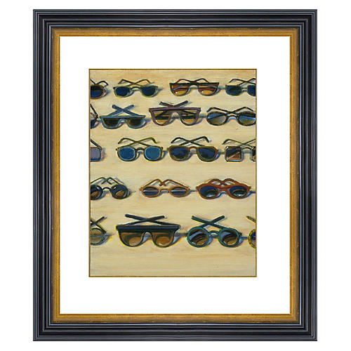 Thiebaud, Five Rows of Sunglasses, 2000