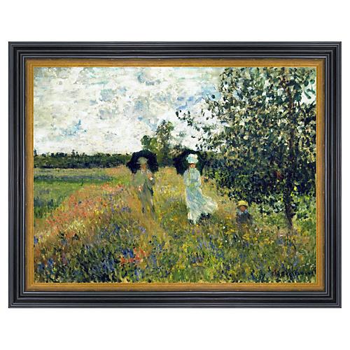 Claude Monet, Promenade near Argenteuil, 1873
