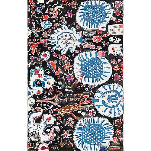 Kate Lewis, Florals with Dark Background