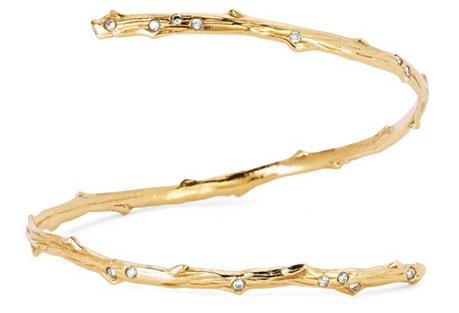 Diamond Rose Thorn Cuff, Yellow Gold