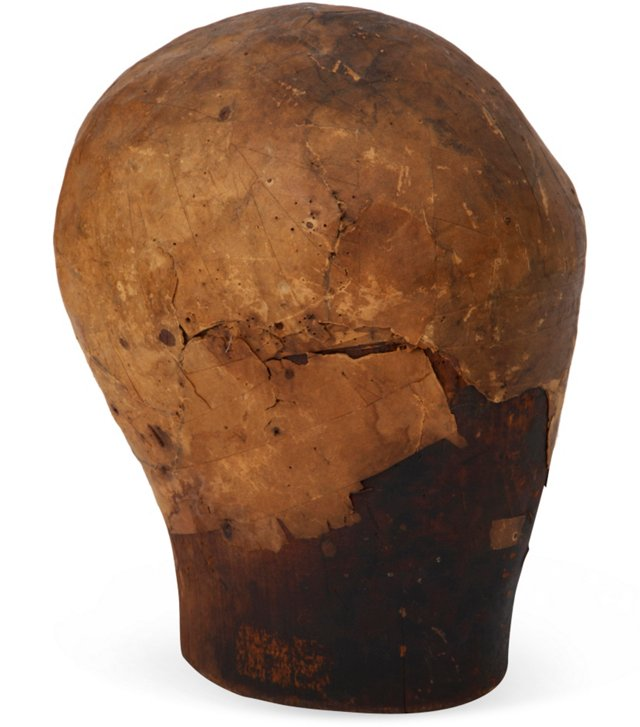 18th-C. French Wood Wig/Hat Form