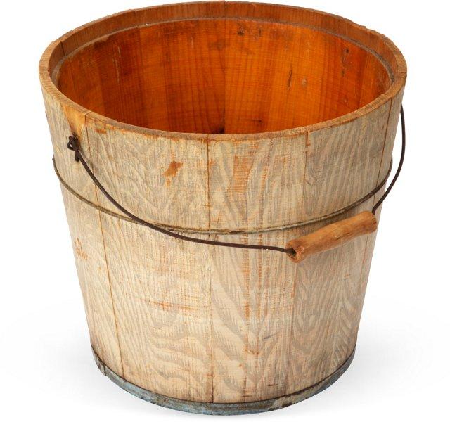 Early-20th-C. Faux-Bois Bucket