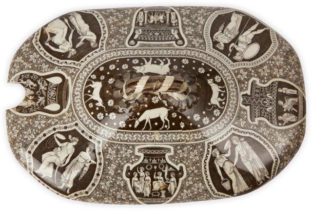 19th-C. Spode Greek Pattern Lid