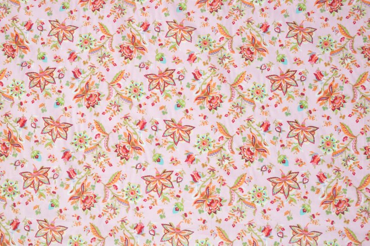 Indienne-Print Cotton Fabric, 1 Yd.