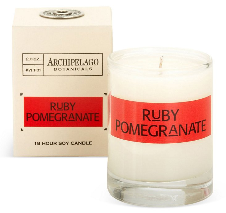 S/4 Votives, Ruby Pomegranate