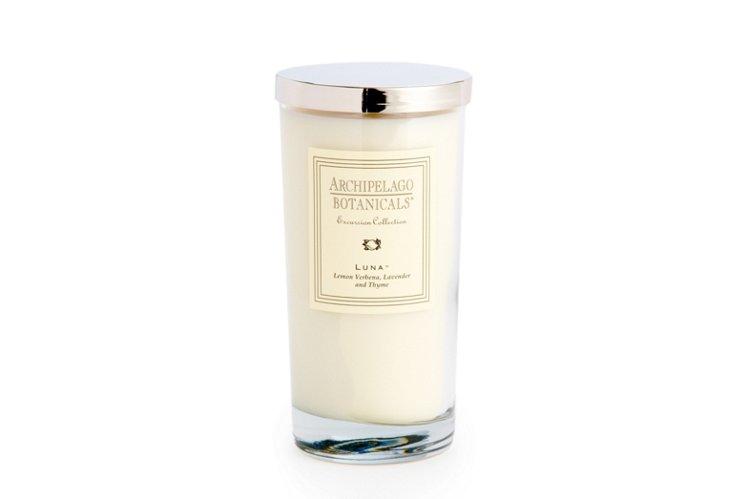 S/2 Luna Glass Candles, Lemon