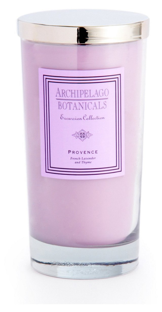 S/2 Provence Tall Candles, Lavender