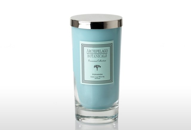 S/2 Veranda Glass Candles, Linden & Fig