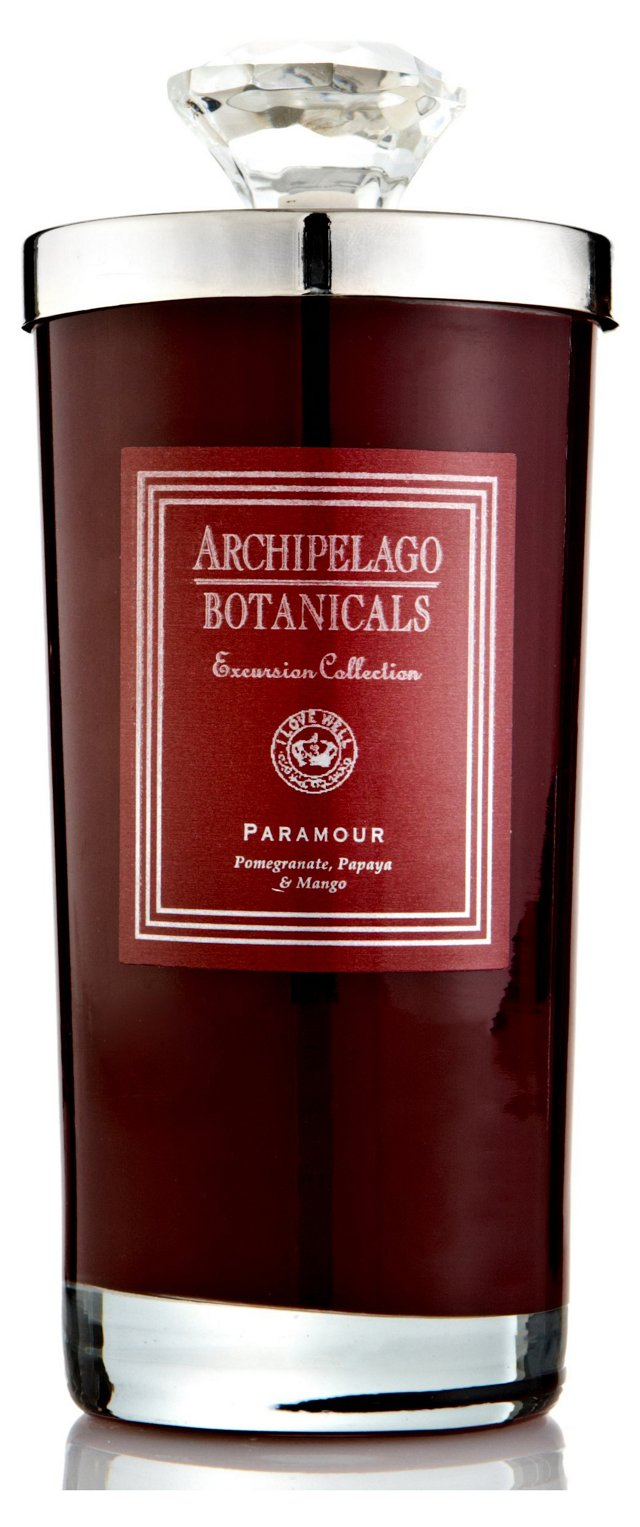 S/2 Paramour Tall Candles, Pomegranate