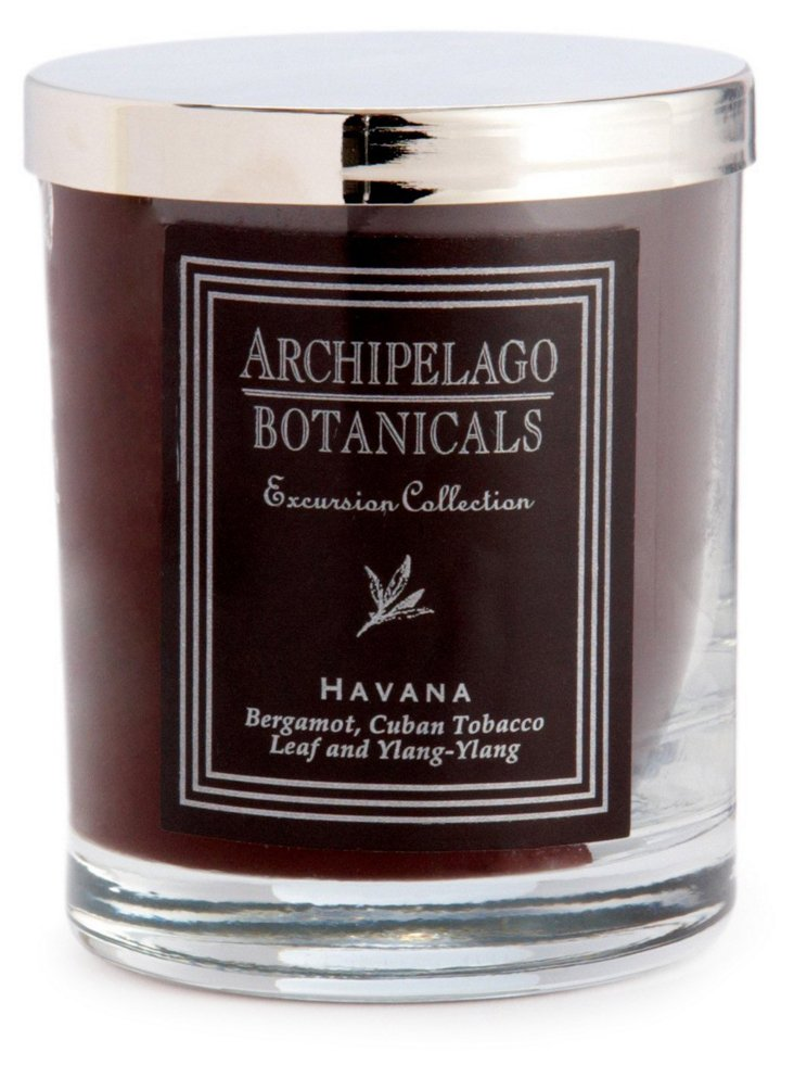 S/2 Short Havana Candles, Tobacco