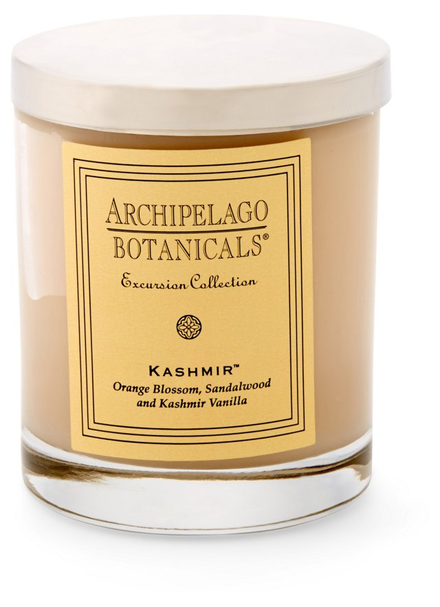 S/2 Kashmir Short Candles, Vanilla