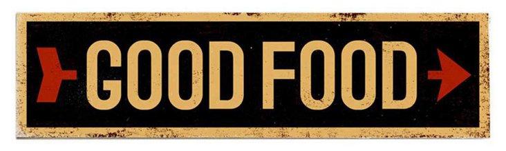 Good Food Wood Sign