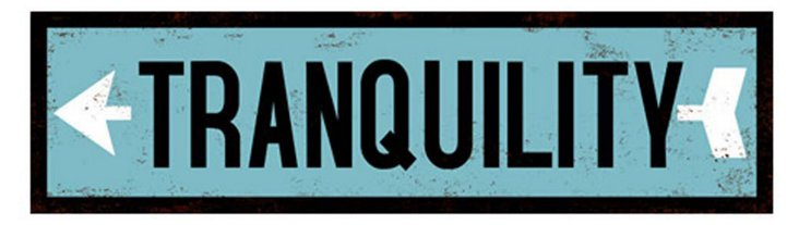 Tranquility Wood Sign