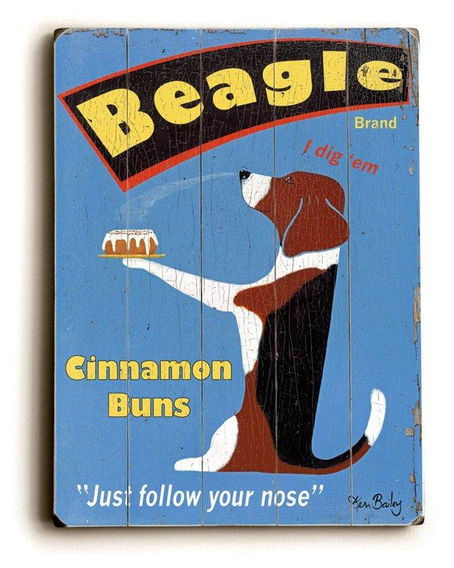 """9""""x12"""" Beagle Buns"""