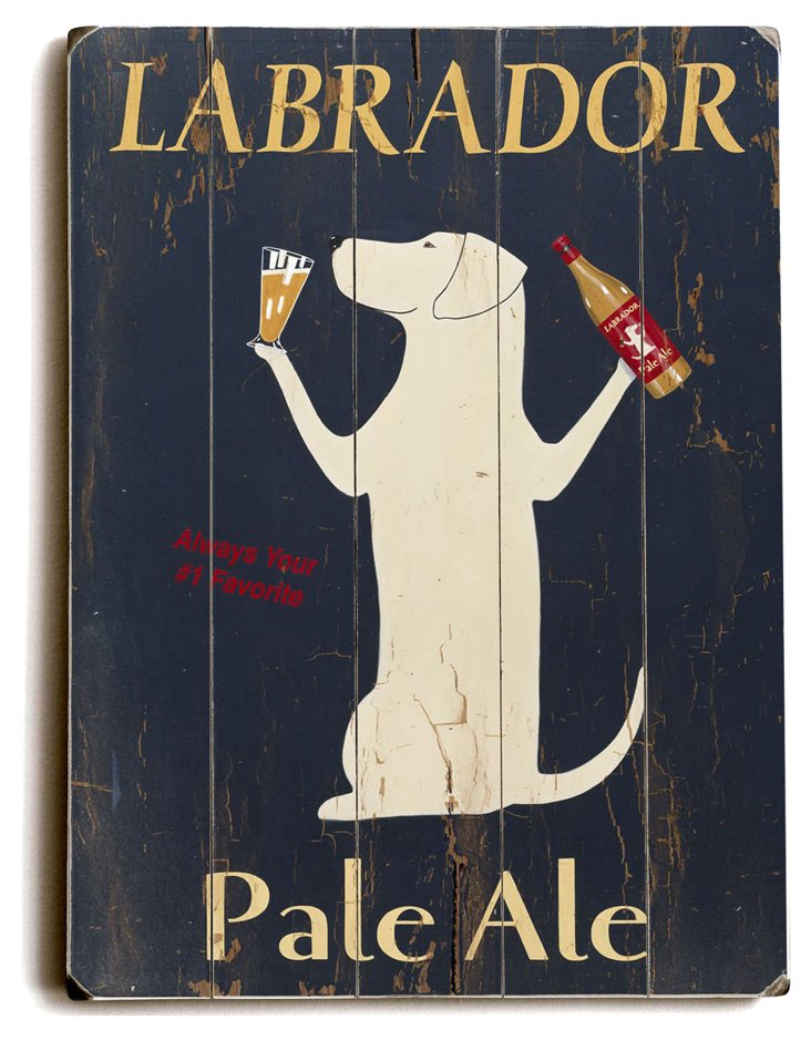 "9""x12"" Labrador Pale Ale Wood Sign"