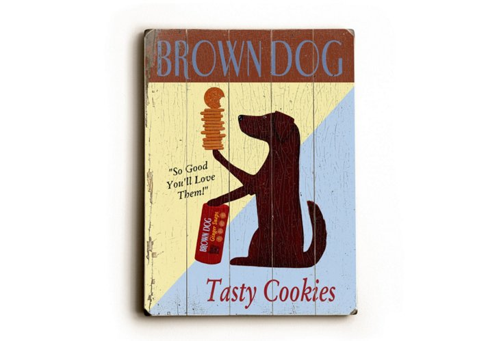 "9""x12"" Brown Dog Cookies"