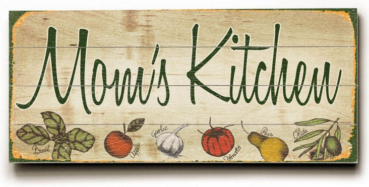 Mom's Kitchen Wood Sign