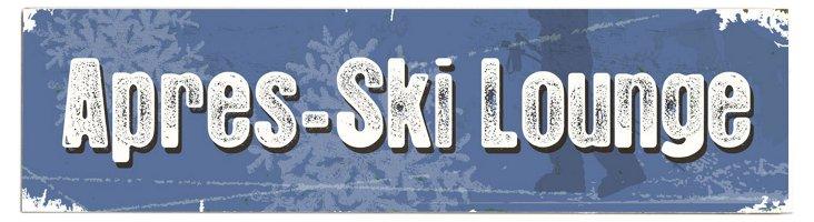 Aprés Ski Lounge Wood Sign
