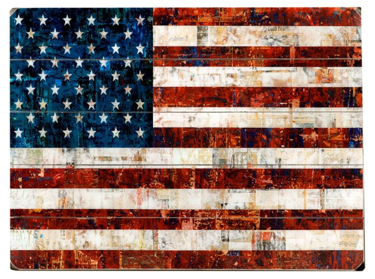 American Flag Collage