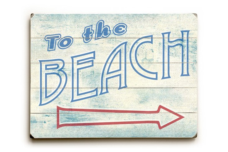 "20"" To the Beach Sign"