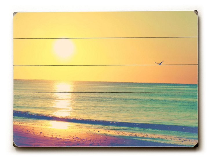Drenched Sunset Wall Sign, Multi