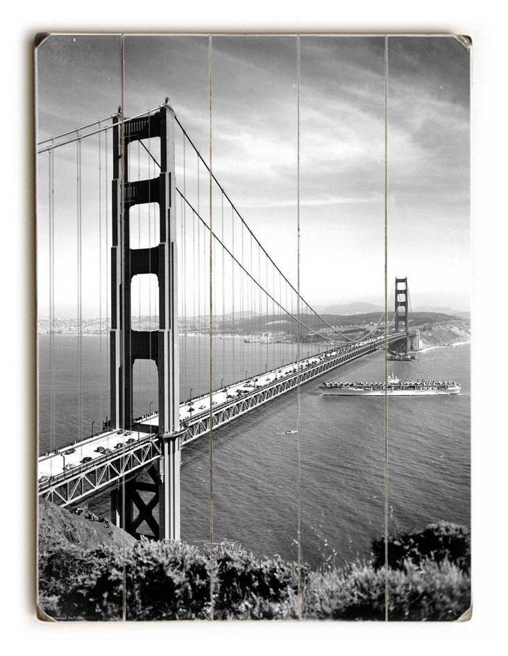 1937 Golden Gate Bridge Wall Sign