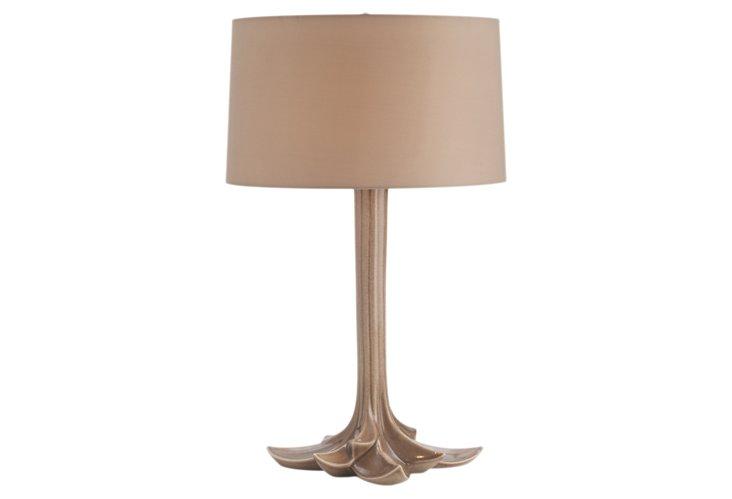Kyra Taupe Sparkle Ceramic Lamp