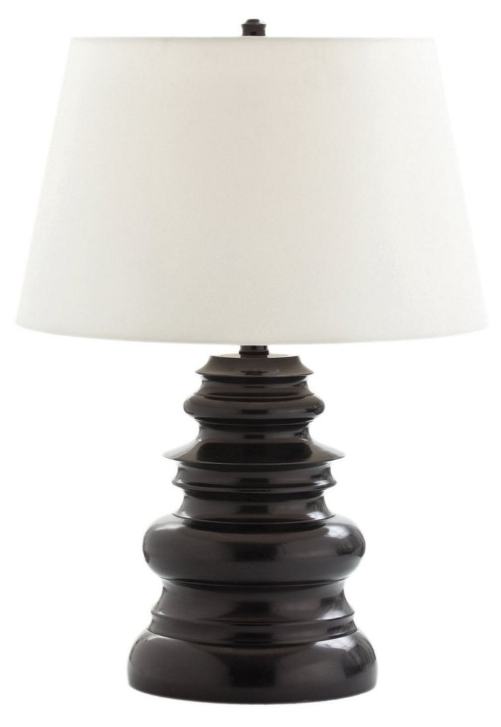 Waterfall Tall Black Bronze Lamp