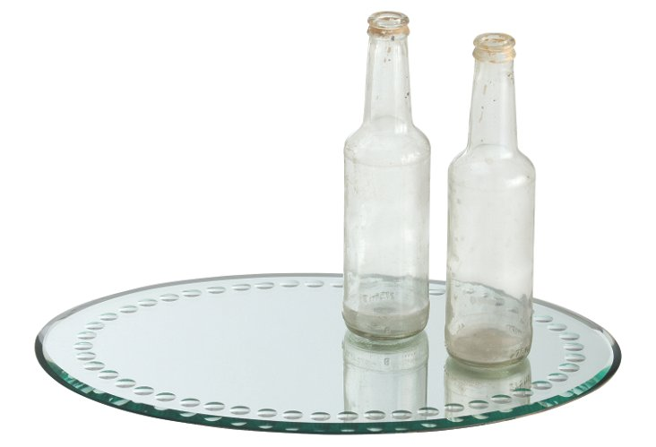 Marseille Oval Mirrored Tray