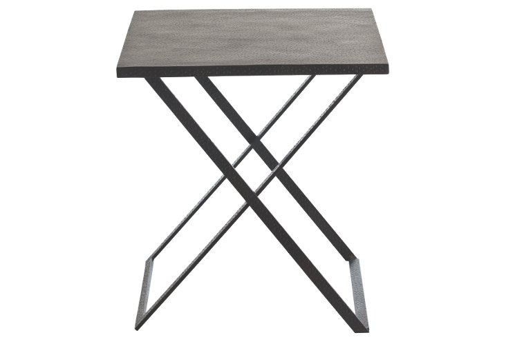 Ray Hammered Iron Folding Tray Table
